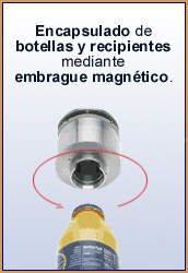 Acoplamiento magnético Encapsulando Botella