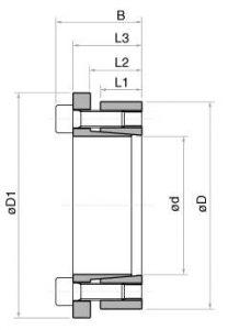 Esquema / dimensiones anillo fijacion TLK133
