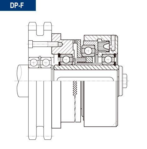 Ejemplo de montaje de montaje acoplamiento neumatico dientes directo dpf