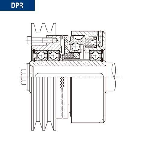 Esquema en alzado del montaje de montaje acoplamiento neumatico dientes directo DPR
