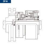 Esquema sección de ejemplo de montaje de montaje acoplamiento neumatico dientes directo DP-N