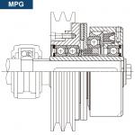 Esquema y sección del montaje del Embrague MPG