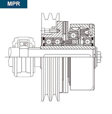 Esquema y sección del montaje del Embrague MPR