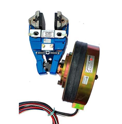 Vista de un freno eléctrico de disco MXSE