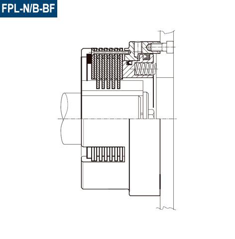 Esquema de la sección del Freno Neumático FPL-N/B-BF