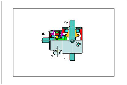 Vista de sección en CAD de un diferencial dinámico